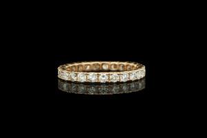 Memoryring mit Diamanten in 18k Roségold