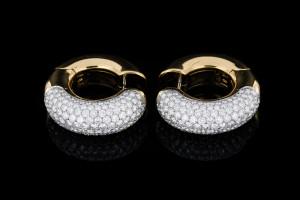Diamantohrringe mit Brillianten (ca. 6,50ct.) | 18k Gelbgold