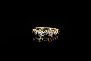 Gelbgoldring mit ca. 0,75ct. Diamanten