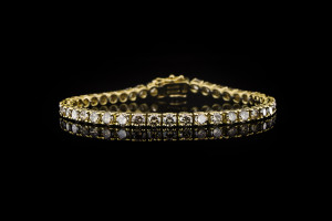 Diamantarmband in 18k Gelbgold mit ca. 7,5ct. Diamanten