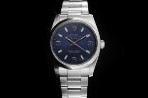 Rolex Air-King (34mm) Ref.: 114200 mit blauem Zifferblatt aus 2007