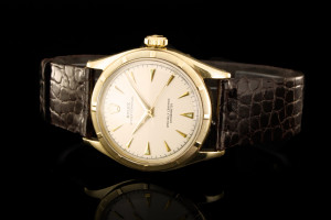 Rolex Oyster Perpetual Bubbleback (34mm) Ref.: 6085 in Gelbgold aus ca. 1952
