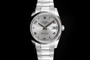 Rolex Oysterdate (34mm) Ref.: 115234 Diamant-Zifferblatt Box & Papiere aus 2019 (LC100)
