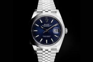 Rolex Datejust 41 (41mm) Ref.: 126300 blaues Zifferblatt mit Box & Papieren (LC170) aus 2019
