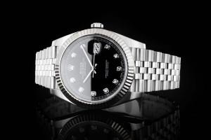 Rolex Datejust 41 (41mm) Ref.: 126334 schwarzes Diamantzifferblatt mit Box & Papieren (LC100) aus 2018