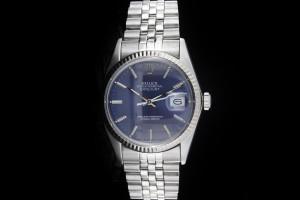 Rolex Datejust (36mm) Ref.: 16014 mit blauem Zifferblatt & Plexiglas aus 1987