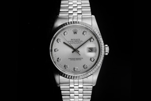 Rolex Datejust (36mm) Ref.: 16234 mit silbernem Diamant-Zifferblatt aus ca. 1997