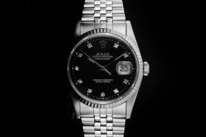 Rolex Datejust (36mm) Ref.: 16234 mit schwarzem Diamant-Zifferblatt aus ca. 1989-90