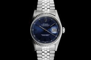 Rolex Datejust (36mm) Ref.: 16220 mit Zifferblatt in Blau aus 1996