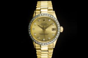 Rolex Datejust Medium (31mm) Ref.: 16627 in Gelbgold mit Diamantbesatz aus 1965