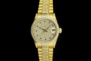 Rolex Datejust Medium (31mm) Ref.: 68278 in Gelbgold mit Diamantbesatz aus 1988