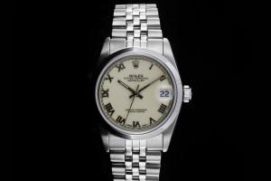Rolex Datejust Medium (31mm) Ref.: 68240 mit creme Zifferblatt aus 1990