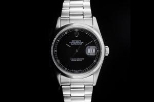 Rolex Datejust (36mm) Ref.: 16200 mit schwarzem Zifferblatt aus 1987