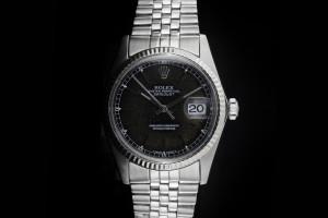 Rolex Datejust (36mm) Ref.: 16014 mit schwarzem patina Zifferblatt & Plexiglas aus ca. 1983