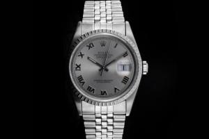 Rolex Datejust (36mm) Ref.: 16220 mit Zifferblatt in Silber aus 1991