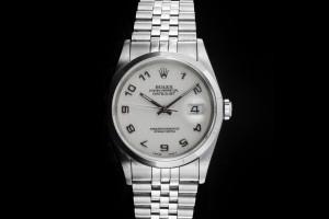 Rolex Datejust (36mm) Ref.: 16200 mit weißem Zifferblatt Papiere aus 1993