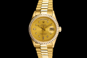 Rolex Day-Date (36mm) Ref.: 18038 in 18k Gelbgold mit Zifferblatt in Gold aus 1980
