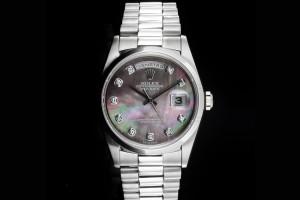 Rolex Day-Date (36mm) Ref.: 18206 in Platin mit Perlmutt-Diamantzifferblatt aus 1996