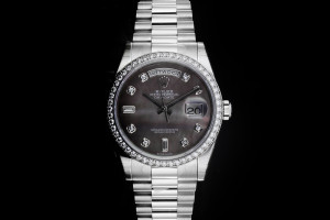 Rolex Day-Date (36mm) Ref.: 118346 in Platin mit Box & Papieren (LC100) aus 12/2017