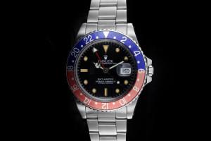 Rolex GMT-Master (40mm) Ref.: 16750 Pepsi mit Box & Papieren (LC100) aus 1988