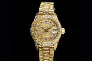 Rolex Lady Datejust (26mm) Ref.: 69178 in Gelbgold Full Diamond aus 1988