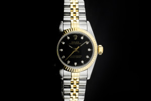 Rolex Oyster Perpetual (26mm) Ref.: 67193 in Stahl-Gold mit Diamantzifferblatt aus ca. 1995
