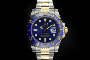 Rolex Submariner (40mm) Ref.: 116613LB mit Box & Papieren 2014 (LC100)