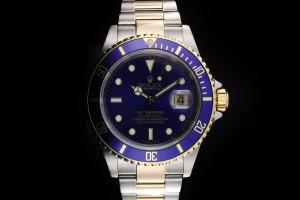 Rolex Submariner (40mm) Ref.: 16613 in Stahl Gold mit blauem Zifferblatt Box & Papiere (LC100) aus 2006