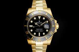 Rolex Submariner (40mm) Ref.: 116618LN in Gelbgold mit Box & Papieren aus 2020