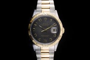 Rolex Datejust Turn-O-Graph (36mm) Ref.: 16263 in Stahl-Gold mit anthrazit Zifferblatt aus ca. 1995