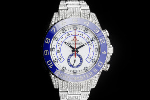 Rolex Yachtmaster II (44mm) Ref.: 116680 in Edelstahl mit Iced Diamantbesatz Box & Papieren