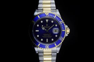 Rolex Submariner (40mm) Ref.: 16613 in Stahl Gold mit blauem Zifferblatt