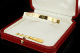 Cartier LOVE Armreif (Gr. 21) in 18k Gelbgold mit Box