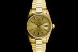 Rolex Day-Date (36mm) Ref.: 18038 in Gelbgold mit champagner Zifferblatt, Papiere aus 1986