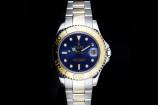 Rolex Yachtmaster (35mm) Ref.: 68623 in Edelstahl/Gold mit blauem Zifferblatt & Papieren (LC100) aus 1998