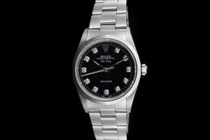 Rolex Air-King (34mm) Ref.: 14000 aus 1997 mit schwarzem Diamantzifferblatt