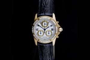 Cartier Santos Ronde Chronograph (30mm) Ref.: 1530 Quartz in Gelbgold mit Box & Papieren aus 1992