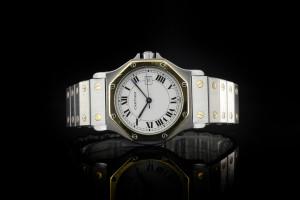 Cartier Santos Ronde (30mm) Automatik in Stahl & Gelbgold mit Box & Papieren