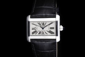 Cartier Divan Damenuhr (23mm) in Edelstahl