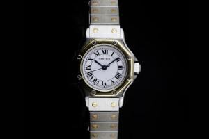 Cartier Santos Ronde (25mm) Automatik in Stahl & Gelbgold