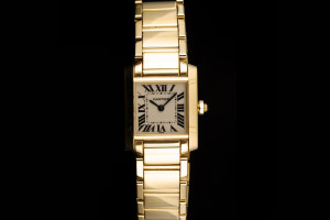 Cartier Tank Francaise (20x26mm) Ref.: 1820 Quarz in Gelbgold