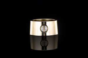 Cartier Love Come Ring (Gr. 50) in 18k Gelbgold mit Diamantbesatz