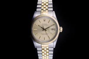 Rolex Datejust (36mm) Ref.: 16013 in Stahl-Gold mit Box & Papieren (LC100) aus ca. 1986