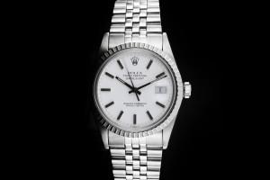 Rolex Datejust (36mm) Ref.: 16030 weißes Zifferblatt und Plexiglas Papiere 1987