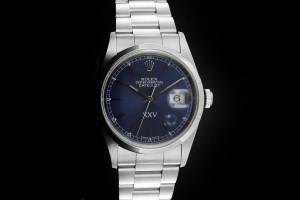 Rolex Datejust (36mm) Ref.: 16200 mit blauem XXV Zifferblatt aus 2000