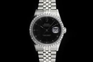 Rolex Datejust (36mm) Ref.: 16264 mit nachträglicher Diamant-Lünette aus 2002