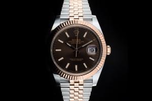 Rolex Datejust (41mm) Ref.: 126331 in Edelstahl & Roségold mit Box & Papieren aus 2017 (LC170)