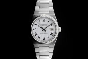 Rolex Datejust Oysterquarz (36mm) Ref.: 17000 mit weißem Zifferblatt in Stahl aus 1980