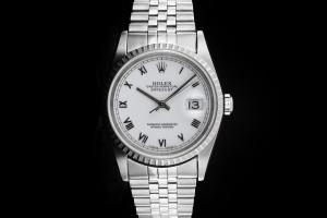 Rolex Datejust (36mm) Ref.: 16220 mit Zifferblatt in Weiß aus 2002