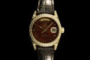 Rolex Day-Date (36mm) Ref.: 18038 in 18k Gelbgold mit Wood Dial mit Papieren aus 1989